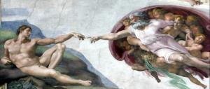 Michelangelo: Creazione dell'uomo.